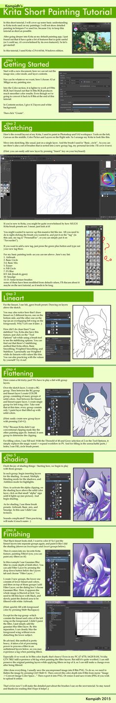 Krita Painting Tutorial - Short by Kampidh.deviantart.com on @DeviantArt
