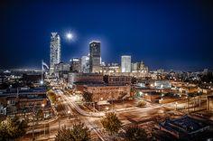 Oklahoma City Night Skyline