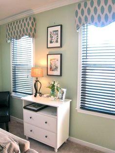 DIY window cornices..for the corner spare bedroom