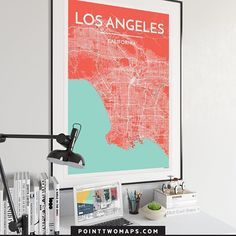 Here's to bright and sunny LA days ! This, and over 400 other city maps are available in our online shop, link in profile. #hangyouradventures  Los Angeles, California  https://www.instagram.com/p/BRtlmukgXzN/   Point Two Design