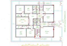 من يبحث عن مخططات دور ارضي كامل هنا مخططات رائعه منتديات شبكة المهندس House Layout Plans House Layouts House Plans