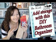 Add storage with this DIY bathroom organizer Bathroom Organisation, Organization Hacks, Organizing Tips, Korean Language, Italian Language, Japanese Language, At Home With Nikki, Daily Schedule Template, Flylady
