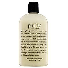 Philosophy - Purity Made Simple  #sephora-only cleanser I use. Very gentle and cleans my face without overdrying.