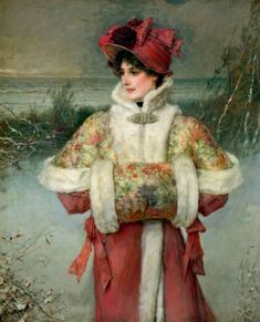 George Henry Boughton (1833-1905) - The Lady of the Snows (1896)