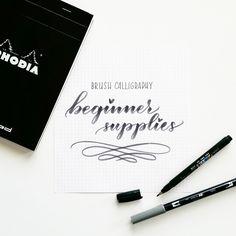 beginner supplies for brush calligraphy