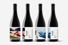 La cura on Behance Wine Bottle Design, Wine Label Design, Wine Bottle Labels, Beer Labels, Food Packaging Design, Bottle Packaging, Packaging Design Inspiration, Wine Brands, Branding