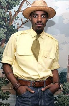 Outkast Hip Hop Artist Andre 3000 Rated Best Dressed By Esquire Magazine - SoJones Best Dressed Man, Sharp Dressed Man, Dandy, Famous Black People, Celebrity Style Casual, Celeb Style, Andre 3000, My Black Is Beautiful, Esquire