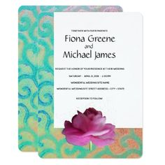 Bright contemporary floral wedding invitation - tap, personalize, buy right now! Classic Wedding Invitations, Pink Invitations, Invitation Card Design, Floral Invitation, Wedding Invitation Cards, Bridal Shower Invitations, Custom Invitations, Wedding Shower Gifts, Wedding Gifts