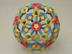 Origami Ball - Equilateral Polyhedron With Heptagons