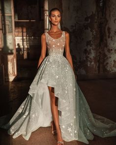 Trend Of The Year: 21 High Low Wedding Dresses ❤ high low wedding dresses sequins stars with train said #weddingforward #wedding #bride