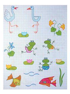 Рисунки по клеточкам для детей разного возраста Baby Drawing, Drawing For Kids, Art For Kids, Graph Paper Drawings, Graph Paper Art, Drawing Lessons, Art Lessons, Graph Paper Notebook, Bullet Journal For Beginners