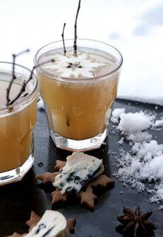 Stansa ut snöflingor i tunna äppelskivor Spiced Cider, Apple Cider, Seasonal Food, Jingle All The Way, Christmas Home, Merry Christmas, Xmas, Cafe Bar, Blue Cheese