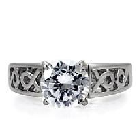 Perfect 4 Ct. Round Cut Wedding/Engagement/Cocktail Ring w/Intricate Raised Setting Sz 6