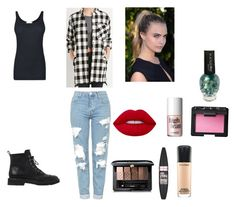 """Lost boys"" by elisha-dowling ❤ liked on Polyvore featuring Obel, Topshop, Vince, Giuseppe Zanotti, Guerlain, Maybelline, Lime Crime, MAC Cosmetics, NARS Cosmetics and Benefit"