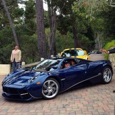 Pagani Huayra in exposed Blue Carbon Fiber  Photo taken by: @Lamboxchange on Instagram