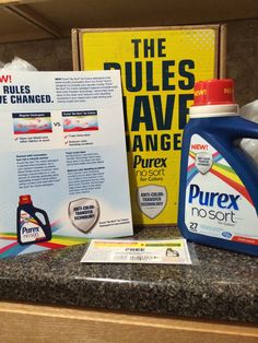 Loving the No Sort laundry detergent I got to try for free!  Thanks Purex Insiders!!