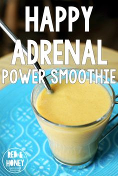 Happy Adrenal Power Smoothie I have one job right now: keep my adrenals happy.* They're in a pretty gnarly mood right now, so it's taking some cajoling. This adrenal power smoothie is a great support to my efforts! Fadiga Adrenal, Adrenal Fatigue Diet, Adrenal Fatigue Treatment, Adrenal Health, Hypothyroidism Diet, Adrenal Glands, Gut Health, Power Smoothie, Smoothie Detox