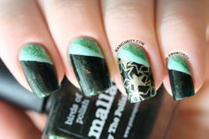 Manicurity   piCture pOlish #ManiMonday: Mallard - Swatches, Review, and Tape Nail Art