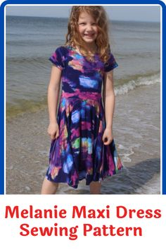 Get your little girl to stand out with this one of a kind maxi dress. It's pretty and practical and she can wear it to multiple occasions including sleepover parties. It's simple to wear and accessorize and the pattern offers plenty of options on who you can improve and try out different looks on the dress. In this pattern, you will find everything you need to make the maxi dress and an additional 140 different dresses. #maxidresspatterns#sewingpatterns#dresssewingpatterns#sewingathome Summer Dress Patterns, Summer Dresses, Stunning Summer, Sleepover Party, Different Dresses, Love Sewing, Flutter Sleeve, Sewing Patterns, Parties