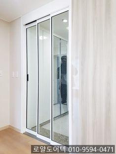 중문공장 로얄도어텍 생산 시공 제품 알루미늄중문 3연동 초슬림 오픈형 망입유리적용 N쇼핑에서 만나실 수 있어요 부산 울산 경남 설치 가능  전화문의 010-3160-5181 Decor, Room Divider, Furniture, Home Decor, Room