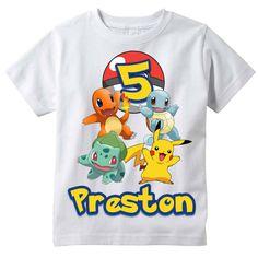 Pokemon Pikachu Personalized Birthday Shirt by BerryBestTees