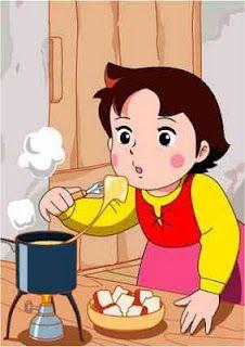 Heidi und der leckere geschmolzene Käse...Da lief mir immer das Wasser im Munde zusammen :)