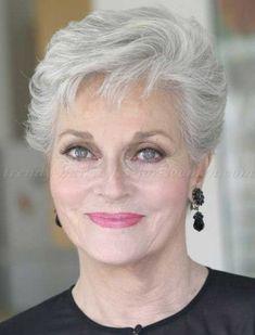 Tagli per capelli grigi. Maria · Over 70