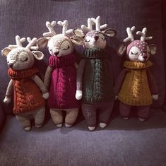 Bambus gehäkelte Puppe mit Pullover Pullover, Bamboo, Puppets, Sweaters, Sweater