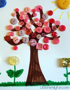 Little Family Fun: Spring Button Craft for Kids!