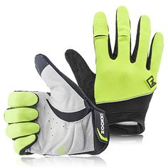 Zookki Cycling Gloves Mountain Bike Gloves Road Racing Bicycle Gloves Light Silicone Gel Pad Riding Gloves Touch Recognition Full Finger Gloves MenWomen Work Gloves * See this great product. (Note:Amazon affiliate link)
