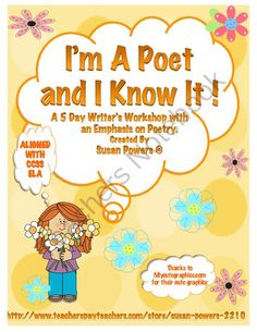 Poetry Literacy Writers Workshop product from Cool Teaching Tools on TeachersNotebook.com