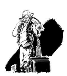 © Jonathan Fara ©  My favourite Walking Dead character n.2 : DARYL DIXON.  http://jonathanfara.blogspot.it/2013/08/my-favourite-walking-dead-character-n2.html