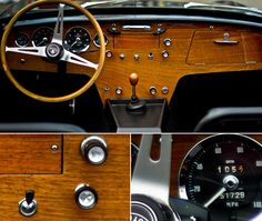 Lotus Elan dashboard. Lovely. Simple. Wood. Real wood. And structural, too. Everything has multiple jobs in a Lotus. Beautiful, often brilliant, often extreme parsimony and minimalism.