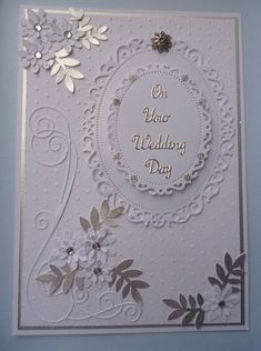 Wedding Card - All essential products for this project can be found on Crafting.co.uk - for all your crafting needs. #WeddingCards