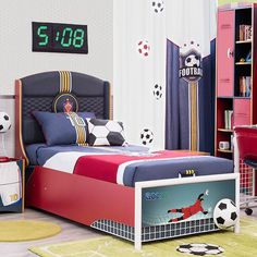 Found it at Wayfair - Soccer Twin Upholstered Customizable Bedroom Set