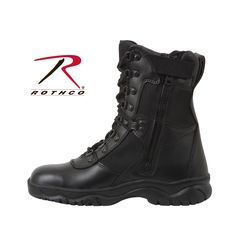 "Rothco Forced Entry 8"""" Tactical Boot With Side Zipper"
