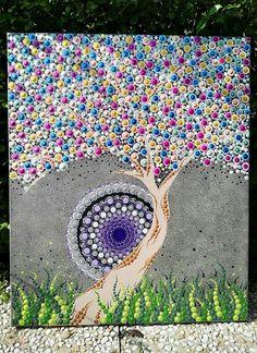 PUNTILLISMO, DOT ART Dot Art Painting, Mandala Painting, Pebble Painting, Painting Patterns, Stone Painting, Mandala Dots, Stone Art, Mosaic Art, Rock Art