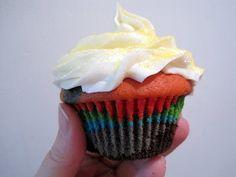 Rainbow Vanilla Cupcakes