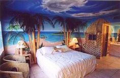 Tropical Themed Hotel Room