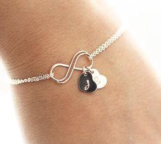 Personalized+Infinity+Bracelet+Initial+Bracelet+by+BijouxbyMeg,+$32.00