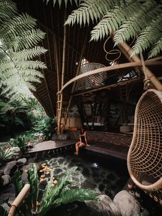 Glamping, Bamboo House Design, Jungle House, Bamboo Architecture, Breath In Breath Out, Tropical Houses, Tropical Garden, Jungles, Hotels And Resorts