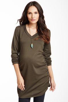 6cb0f753a95 Zula Maternity V-Neck Long Sleeve Top on HauteLook  streetstyle