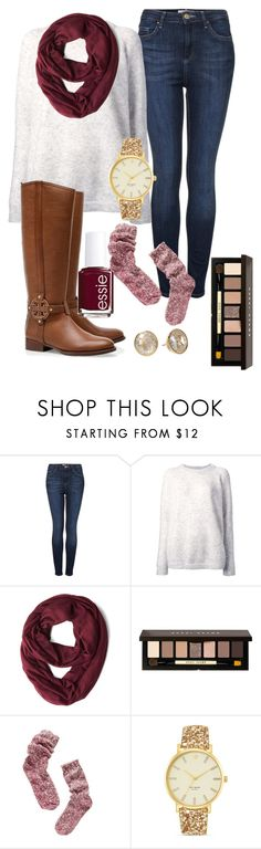 """""""Fall Time Lovin'"""" by southernbrooke ❤ liked on Polyvore featuring Topshop, Acne Studios, Bobbi Brown Cosmetics, Madewell, Tory Burch, Kate Spade, Michael Kors and Essie"""