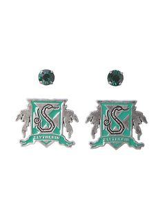 Harry Potter Slytherin House Crest Stud Earring Set,
