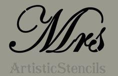 Mrs Stencil 10x5