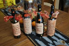 Decorative Thanksgiving Wine Bottle by BuckyWallflower on Etsy,