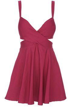 ROMWE Cut-out Crossed Pieced Purple Camisole Bandeau Dress