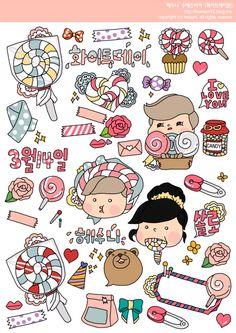 ♚ ☰ Sticker korea ☰ cute | ตกแต่งภาพ | 2265074