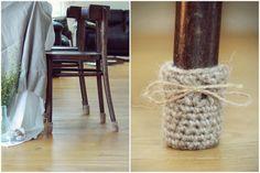 Calcetines de la silla cubiertas de pata de la silla