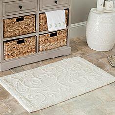 Checks Collection Cotton Piece Bath Rug Set Includes BONUS - Overstock bathroom rugs for bathroom decorating ideas